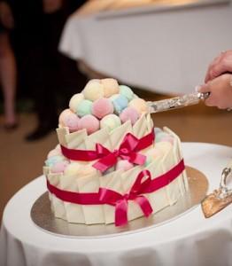 W41 - Wedding Tower two tier wedding cake