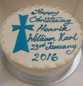 Buttercream Round Baptism Cross Cake