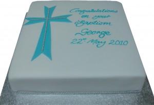 Iced Square Diamante Cake