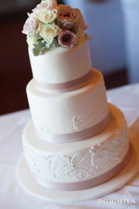 W15 - Embossed Beauty wedding cakes sydney