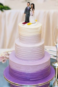 W13 - Purple Sunset wedding cakes sydney