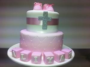 C11 - 2 Tier Quilted Block Cake