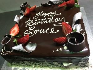 B14 – Chocolate Scroll Square Cake