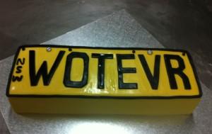 N18 - Number Plate Cake