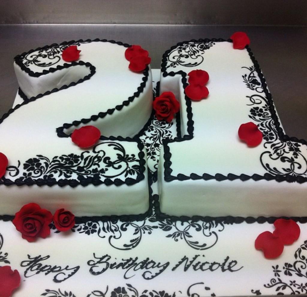 B15 21st Birthday Cake
