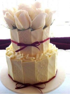 W8 - White Wedding wedding cakes sydney