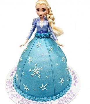 Buttercream Elsa Doll Cake