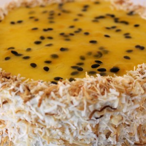 Coconut & Passionfruit Cheese Cake (Malibu)