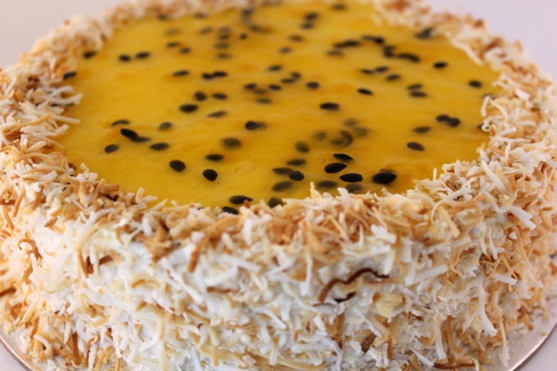 Coconut & Passionfruit Cheese Cake (Malibu)