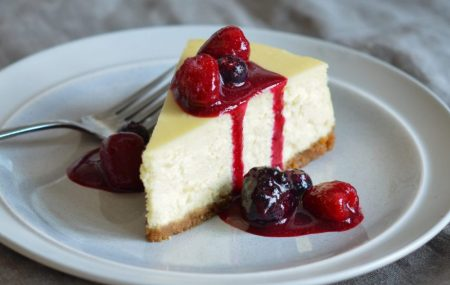Have you tried our NEW YORK style Cheesecake? Its delicious, tasty and creamy… trust me you will be coming back for more! Best served with Berry Sauce and Vanilla Gelato.