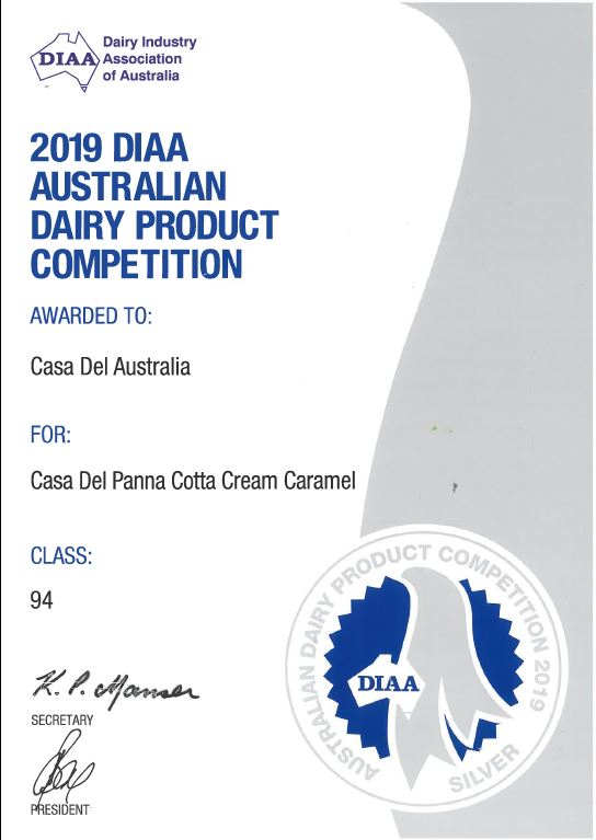Panna Cotta Silver Medal