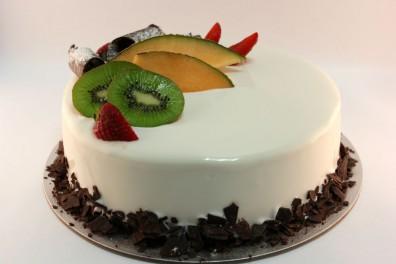 White Exotic Chocolate Gelato Cake