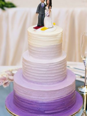 W13 - Purple Sunset wedding cakes sydney