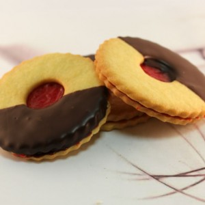 Raspberry Chocolate Shortbread