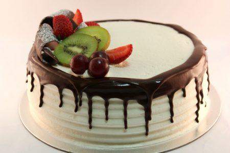 Dripping Chocolate Gelato Cake