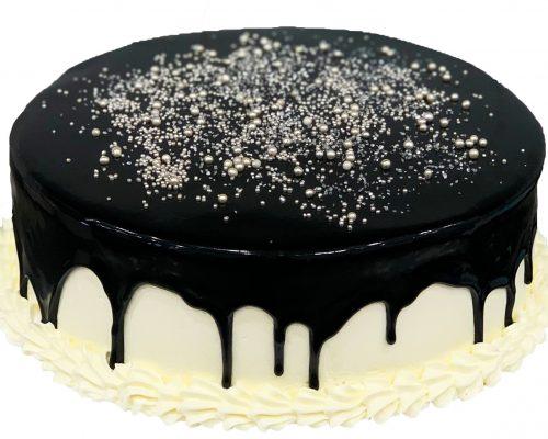 dripping white choc class cake