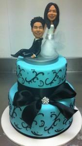 W14 - Something Blue wedding cakes sydney
