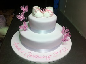 C12 - Baby Shoes & Butterfly Cake