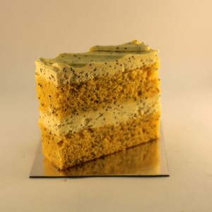 Orange Poppyseed Cake Slice