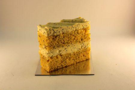 Orange Poppyseed Cake Slice