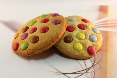 Smartie Cookie Biscuits - Short Bread