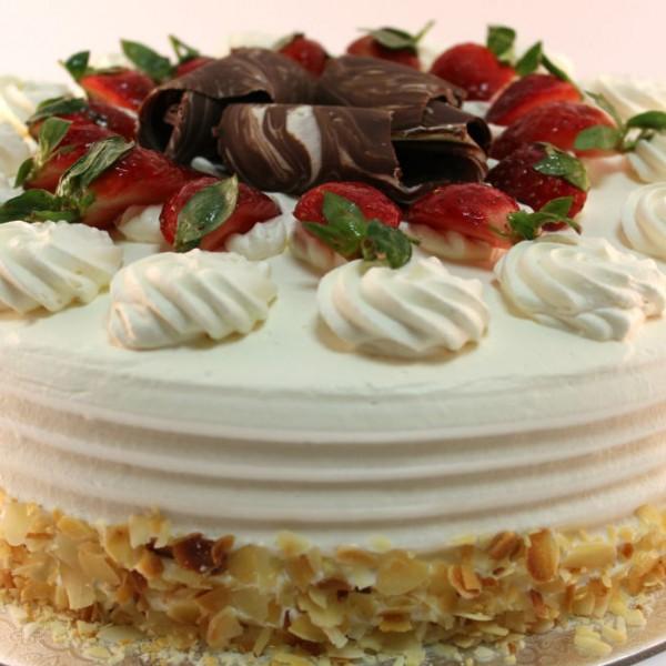 Strawberry Cream Vanilla Torte